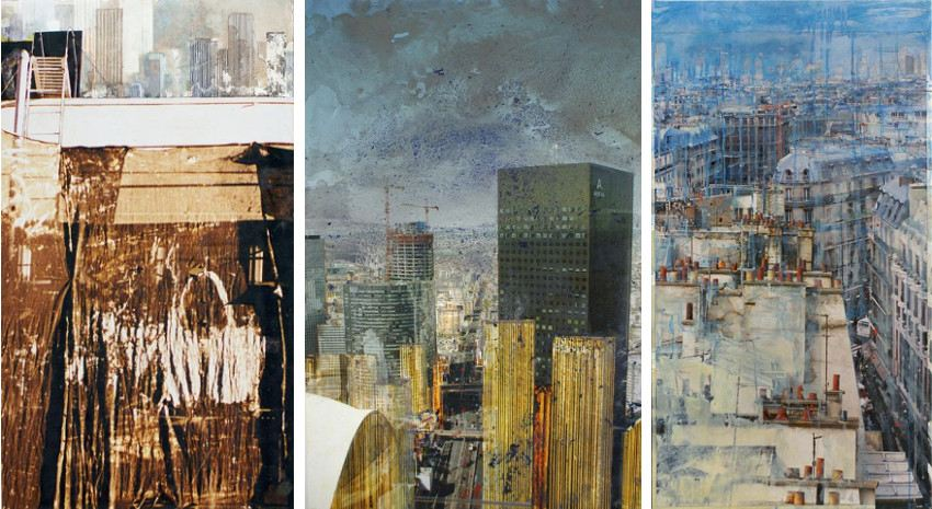 Gottfried Salzmann - New York, 2011 (Left) / Paris, La Defence, 2008 (Middle) / Paris, Die Kamine, 2008 (Right)