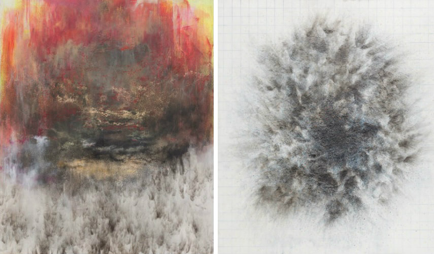 Govinda Sah Azad - In Between, 2015 (Left) - Nothing All Matter, 2016 (Right)