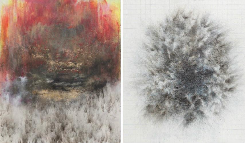 Govinda Sah Azad - In Between, 2015 (Left) - Nothing All Matter, 2016 (Right)