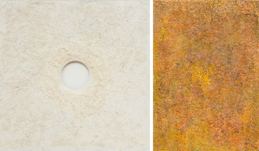 Govinda Sah Azad - The Soul-Eternal-Infinity, 2015 (Left) - Tactile Universe, 2016 (Right)