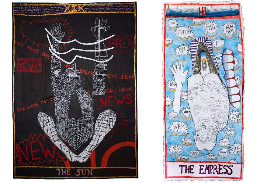 Grace Cross - Child's pose sun tarot, 2017 / Half Tortoise (the empress tarot card), 2017