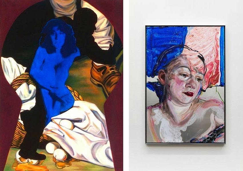 Grace Graupe Pillard - Keyhole Series Broken Eggs, 1996, Natalie Frank - Portrait I, 2019