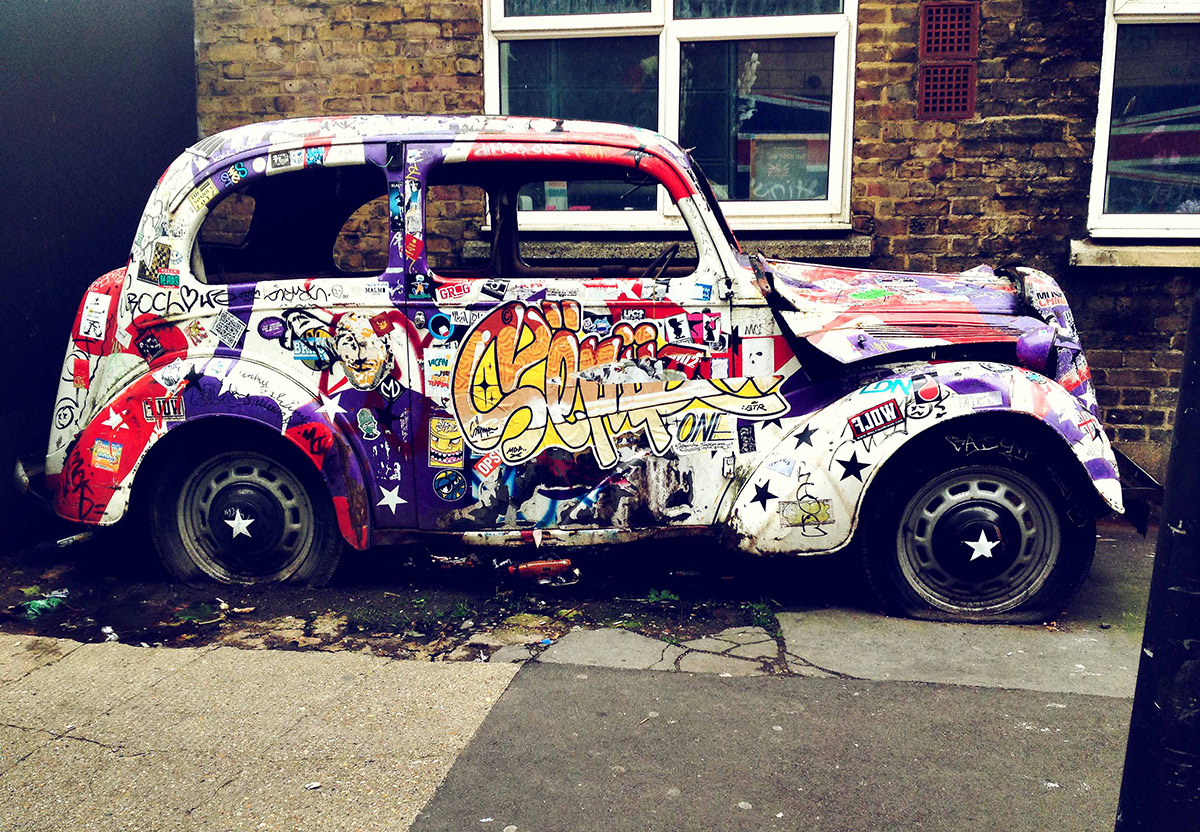 10 best street art cars widewalls