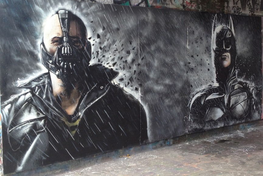 Graffiti Life London - Batman and Bane
