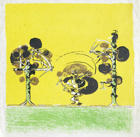 Graham Sutherland-A Collection (Three Thorn Trees, Picton, Field of Rocks with a Candle, Two Untitled)-1979