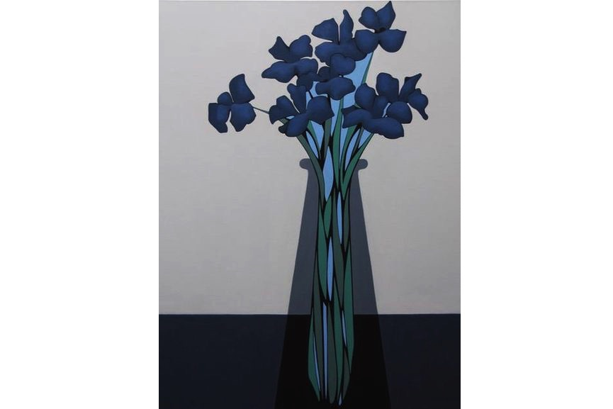 Grant William Thye - Blue Flowers