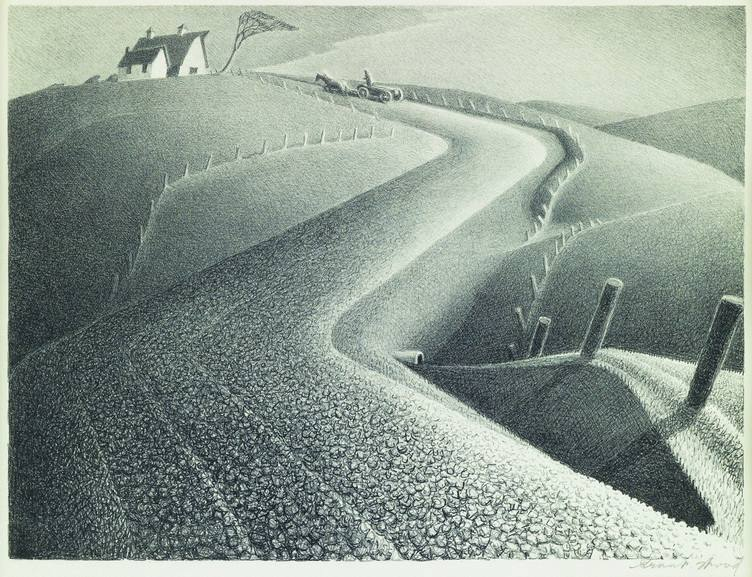 Grant Wood - March