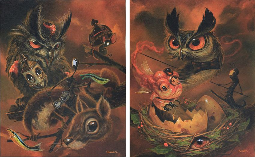 Greg Craola Simkins - The Weasow Origins, 2015 (Left) / The Weasow, 2015 (Right) juxtapoz home aufrufe geladen