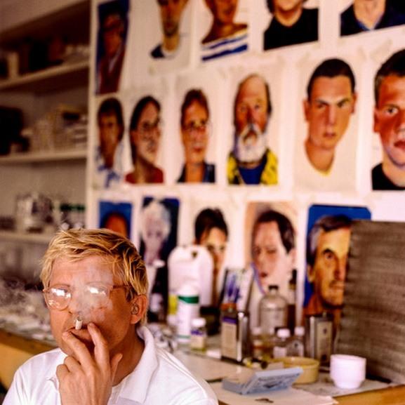 Greg Gorman - David Hockney