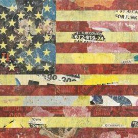 Greg Gossel-American Flag (Red, Yellow, Black)-2011