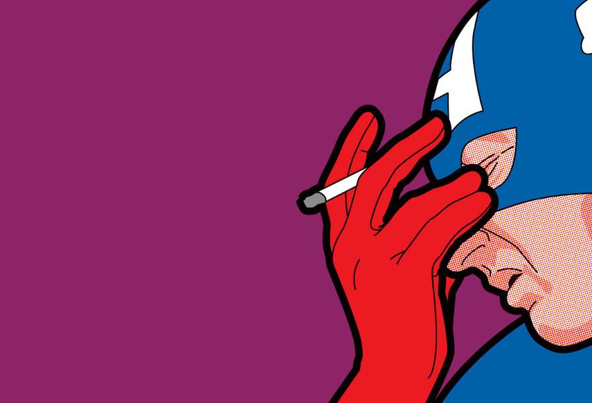 Greg Leon Guillemin - Captain America - Image via ilustragamcombr