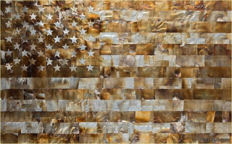 Gregory Block - American Flag, courtesy of 1261 Gallery