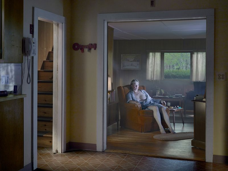 Gregory Crewdson - Woman in Living Room, 2013