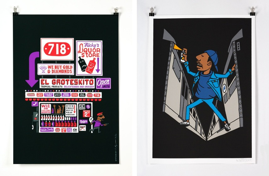 Grotesk - Bodega, 2013 (Left), Dondi, 2013 (Right)
