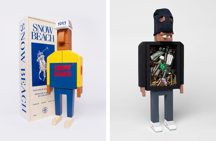 Grotesk - Snow Beach Scultpure, Designed with Case Studyo, 2015 (Left), Crooks With Ski Mask, 2013 (Right)