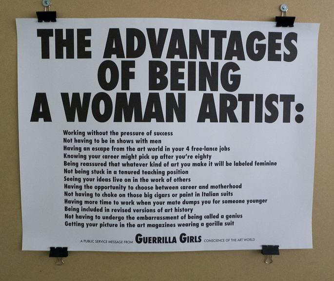Guerilla Girls - The advantages of being a woman artist