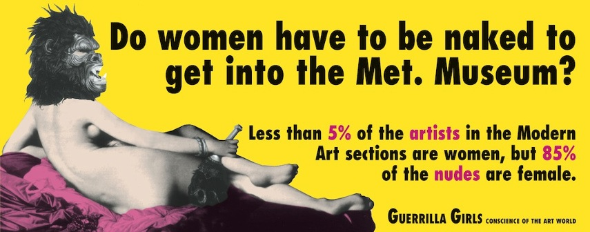 new  museum  world work  gallery  new  museum  world work  gallery new  museum  world work  gallery arts  arts arts Guerrilla Girls - Do Women Have to be Naked, 1989