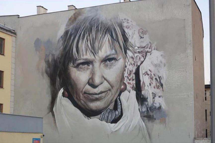 Guido van Helten - Mural in Grudziadz, 2016