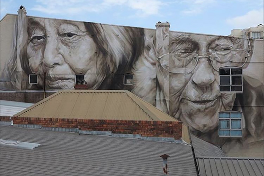 Guido van Helten in Ashfield, Australia