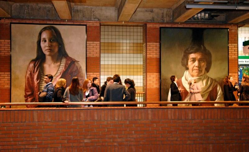 Guillermo Lorca - Baquedano station mural, 2009-2010