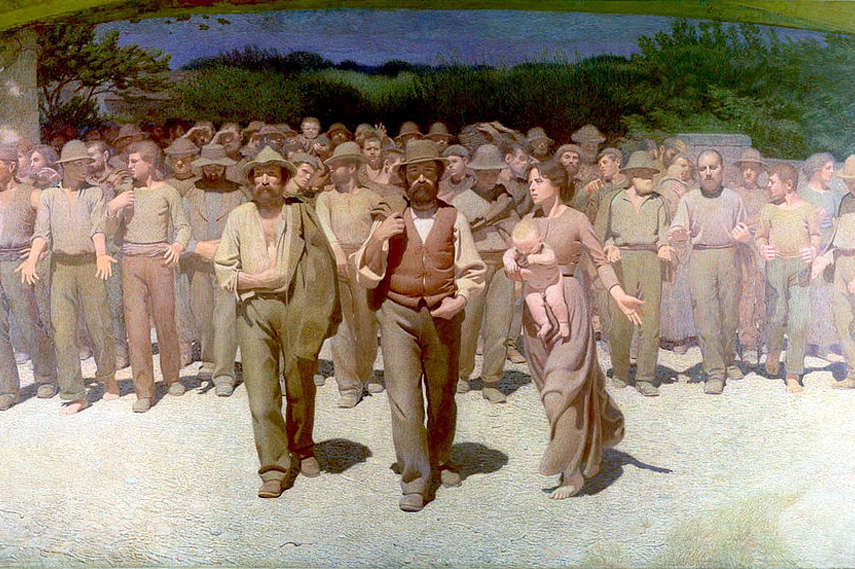 Guiseppe Pellizza da Volpedo - ll Quarto Stato, 1901 (detail) - Image via Wikimedia.org