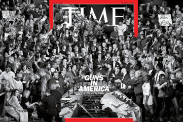 JR Creates a Cover for TIME Magazine Tackling Guns in America