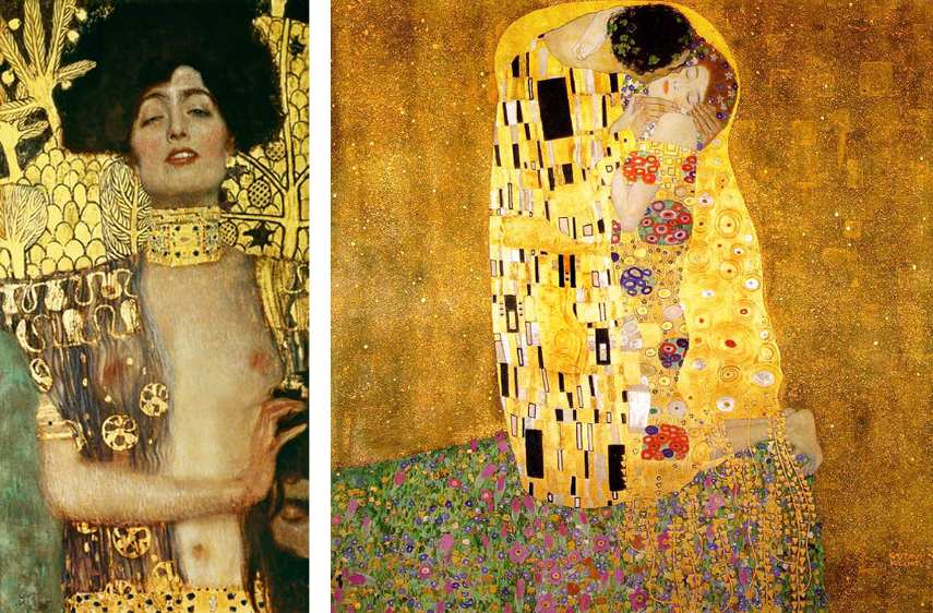 Klimt made portrait paintings in 1862, 1899, 1911 and 1918 - this work of painting is klimt's early gold period, and was the creative death that inspired beethoven to make the Bauer Bloch for Klimt Gustav - klimt painted the Kiss for Adele