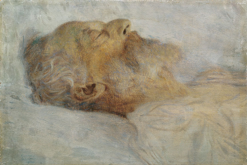 Gustav Klimt - Old Man on his Death-Bed, 1899 © Belvedere, Wien