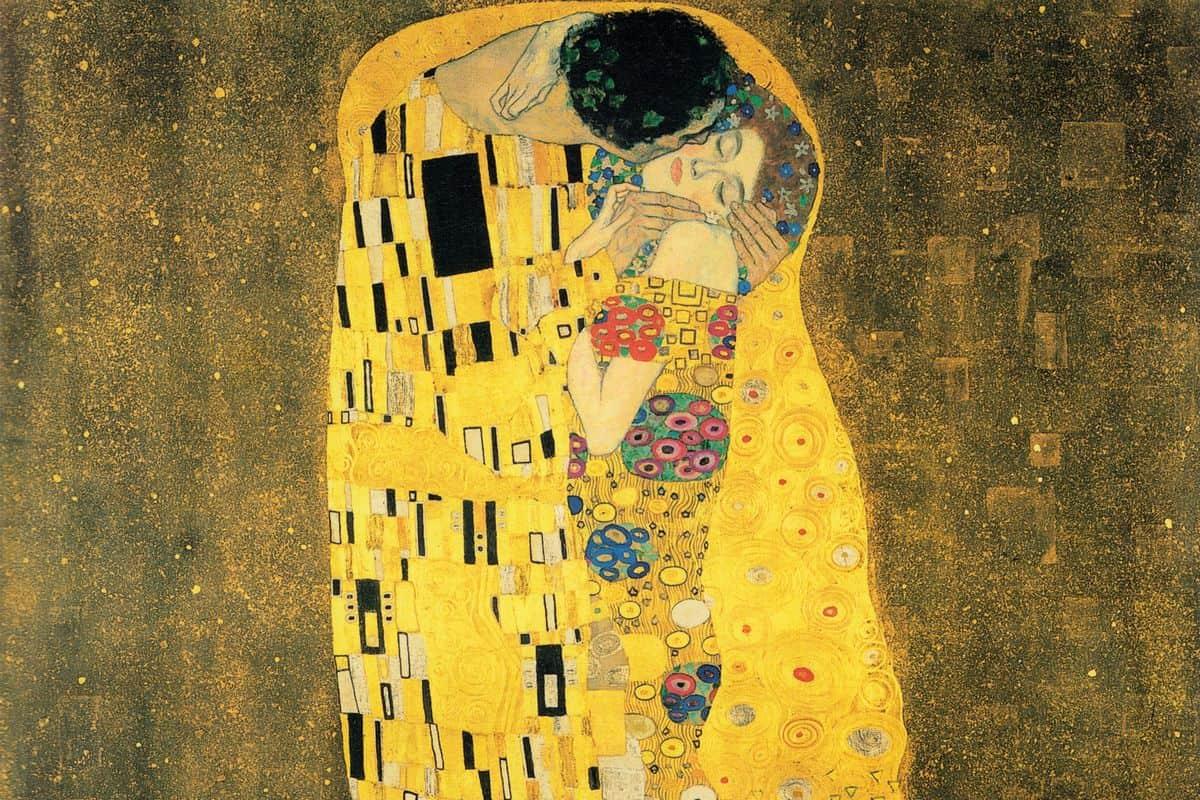Gustav Klimt - The Kiss (detail), 1907-1908