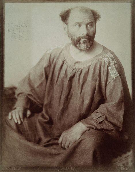 Portrait of Gustav Klimt by Trcka Josef Anton, 1914