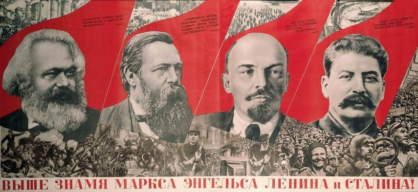 Gustav Klutsis, Under the Baner of Marx, Engels, Lenin and Stalin 1933