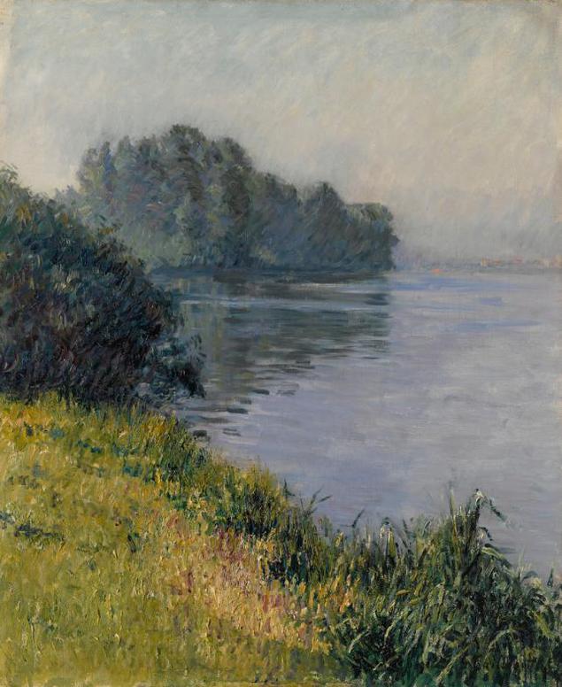 Gustave Caillebotte-La Seine A Lile Marante Par Temps Brumeux-1891
