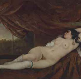 Gustave Courbet-Femme nue couchee-1862