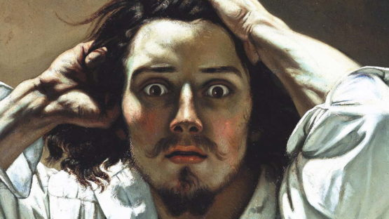 Gustave Courbet - Self-portrait (The Desperate Man), c. 1843–45 (detail)