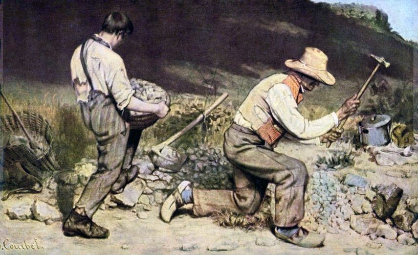 Gustave Courbet - The Stone Breakers - Image via wikipediaorg
