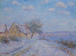 Gustave Loiseau-Tournedos-Sur-Seine, Neige, Givre, Soleil-1900