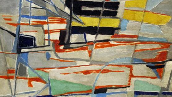 Gustave Singier - Cargo suédois au Radoub (detail), 1948