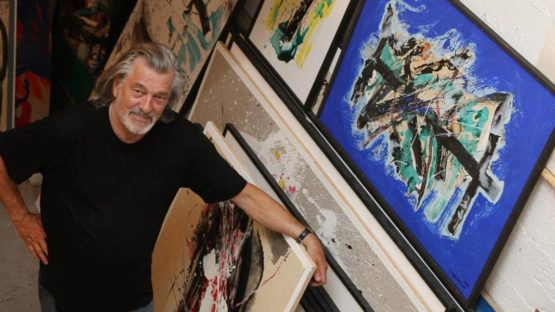 Guy Bezancon in his studio, photo credits - artist