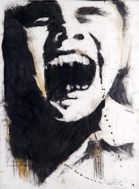 Guy Denning - Screaming Head 1, 2007 (76,2 x 55,9 cm)
