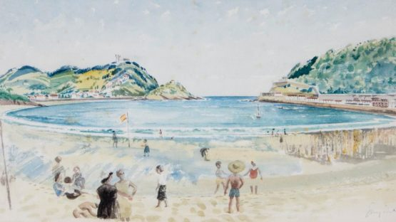 Guy Seymour Warre Malet - La Concha beach, San Sebastian, 1955