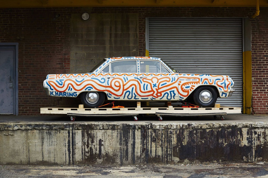Keith Haring Piston Head Car