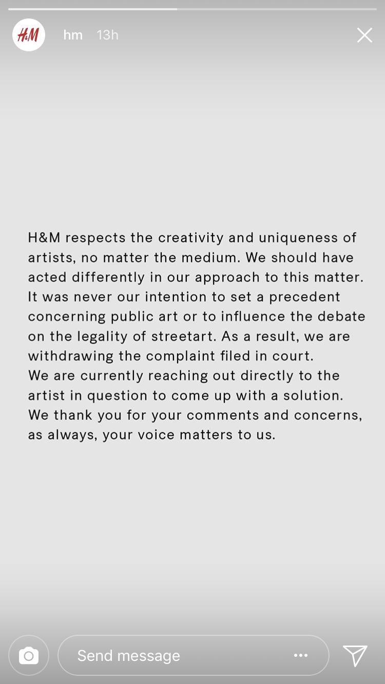 H&M Revok Instagram Story