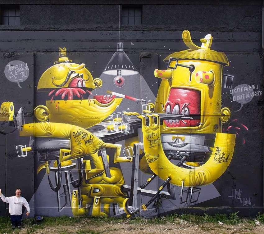 HRVB the Weird - I Got the Key, I Got the Secret, mural for Deadline Festival, Munich 2016