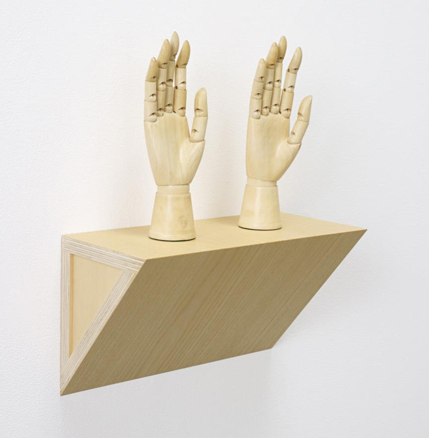 Haim Steinbach-Untitled (female mannequin right hands)-1991