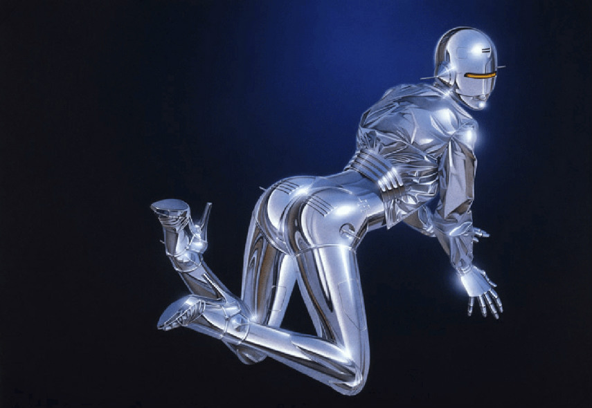 This japanese artist is known for his series of robots and free female sexy figures. sorayama's arts search for fashion female characters