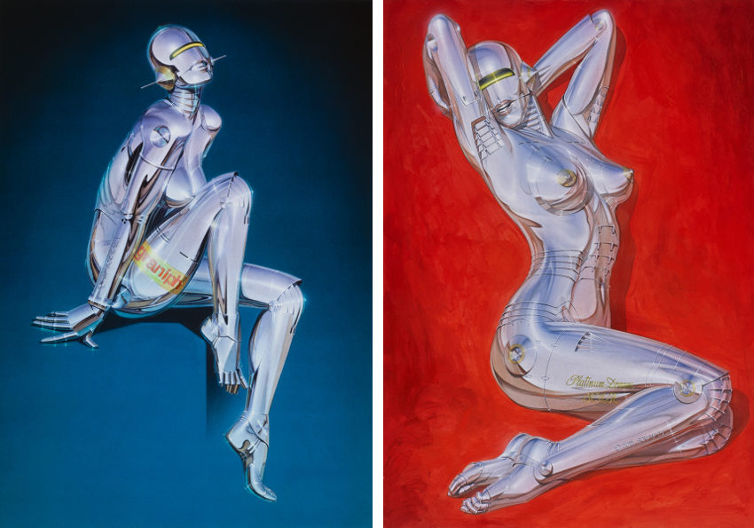 Artworks inspired by robots by Hajime Sorayama