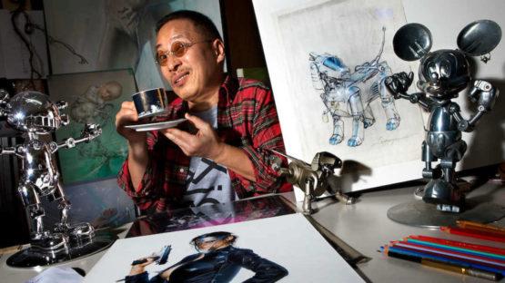 Hajime Sorayama in his studio - Image via  andronikiphotosheltercom