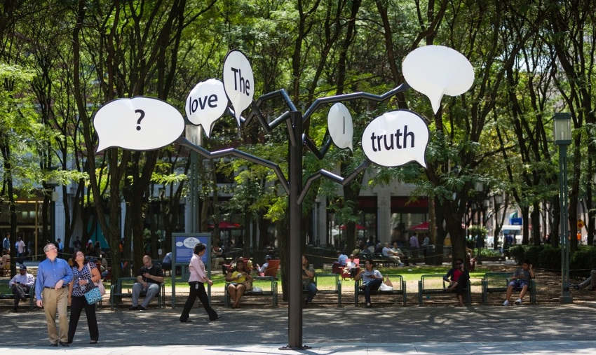 Hank Willis Thomas - The Truth Is I See You (Truth Tree), 2015, installation view at Metrotech Brooklyn, photo credits James Ewing, new york arts series american gallery 2016 museum search