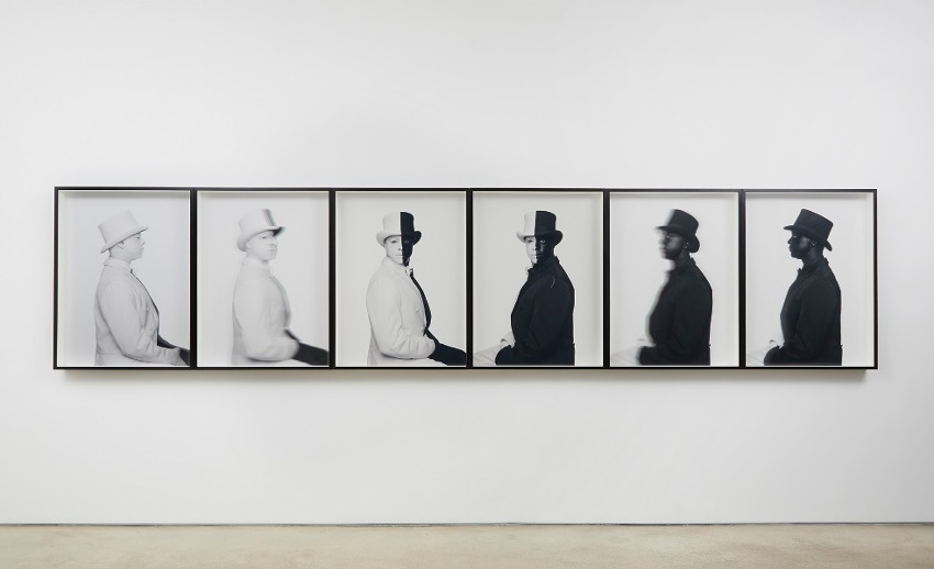 Hank Willis Thomas - Zero Hour, 2012, installation view, jack shainman is an american gallery new york museum search