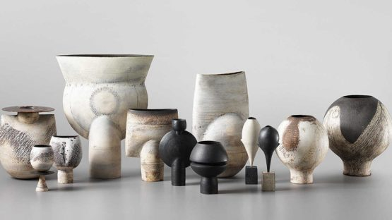 Hans Coper - Thistle and other vases by Hans Coper - Image source Lumas